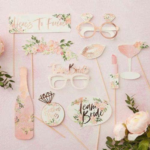 Hen Party Photo Booth Props 10pcs